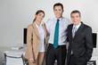 Portrait von drei Geschäftsleuten