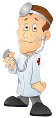 Doctor - Cartoon Character- Vector Illustration