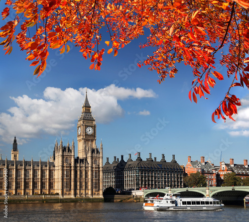 Big Ben during  autumn in London, England