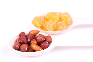 nuts and dried pineapple