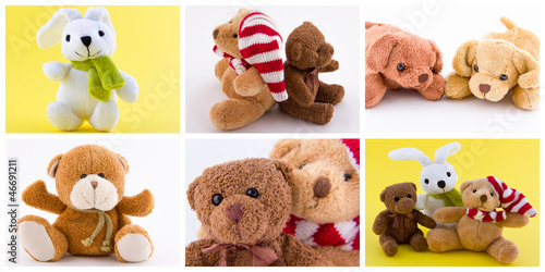 Composition d'animaux en peluche