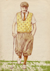 golf player (original full sized drawing)
