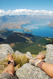 Resting on the summit of Ben Lomond, Queenstown