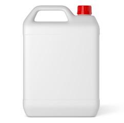 Récipient plastique sur fond blanc 3