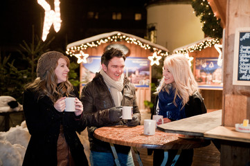 Young People on a Christmas Market