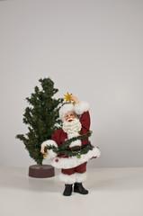 Santa figurine on white