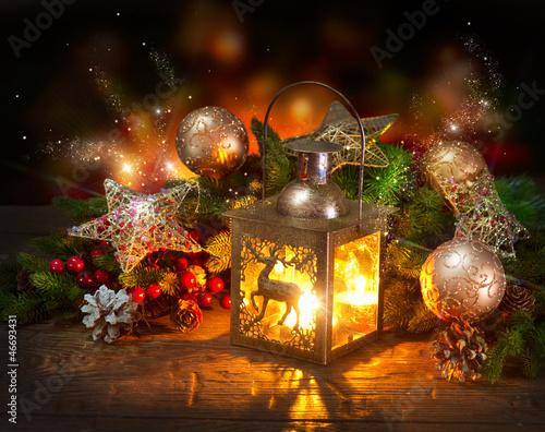 Christmas Scene. Projekt świątecznej karty z pozdrowieniami