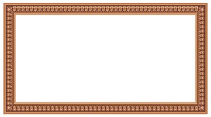Cadre rectangulaire art déco en bois sculpté