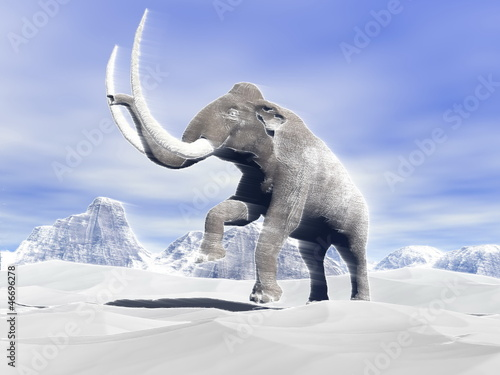 Mammoth in the wind