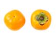 甘柿の実の上と下