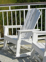 The white rocking chair