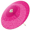 桜吹雪の和傘