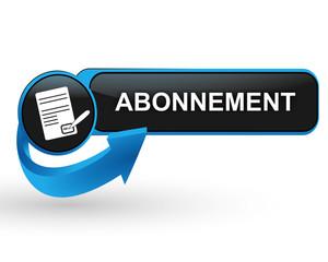 abonnement sur bouton web design bleu