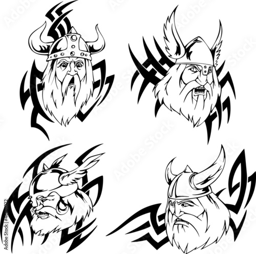 Viking heads