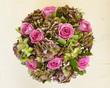 colorful roses bouquet, floral background