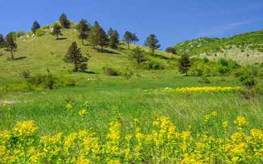 Mountain landscape in Lika , Croatia