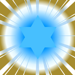 Vector background with star of david