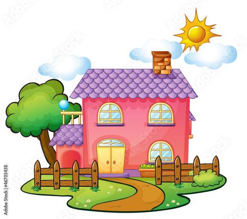 Foto op Canvas Boerderij a house