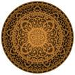Vector illustration of brown rug