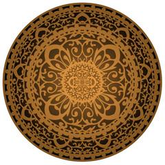 Vector illustration of brown rug