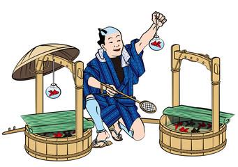 江戸時代の金魚売