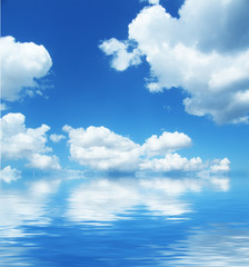 cloudscape with  sea