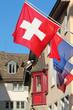 Schweizerfahne in Zürich