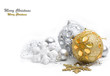 Christmas gold and silver decoration