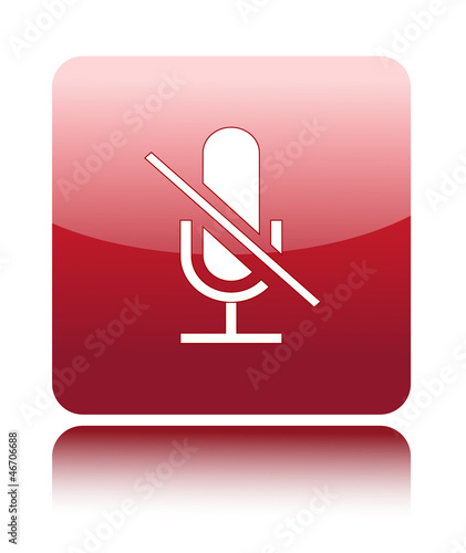 Do not use microphone or mute icon on red
