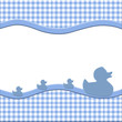 Blue and White Baby Frame for your message or invitation