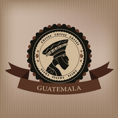 Coffee label. Guatemala.