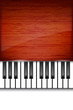Abstract wooden piano background with place for text