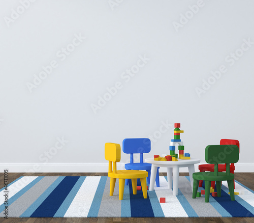 Interior of playroom kidsroom