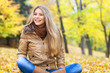 Pretty woman in autumn