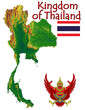 Thailand Asia national emblem map symbol motto