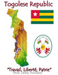 Togo Africa national emblem map symbol motto
