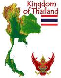 Thailand Asia national emblem map symbol motto