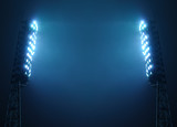 Fototapety Stadium Lights against Dark Night Sky with Copy Space