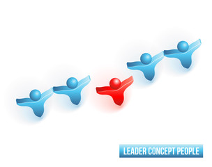 Leader concept people