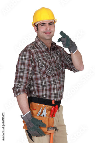 Builder pointing at you