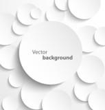 Paper circles with drop shadows