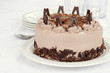 Chocolate cake with flakes