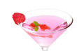 Closeup raspberry martini