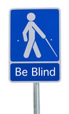 beware people crossing sign blind poster