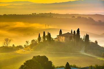 Tuscany at early morning