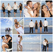 Young Beautiful Couples on a Deserted Beach Montage