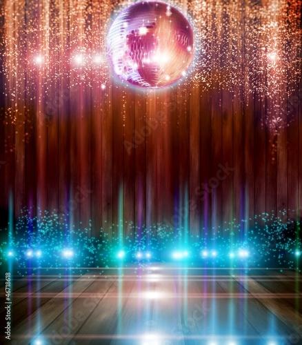 Fotobehang Licht, schaduw Abstract disco ball_Background with flashing lights.