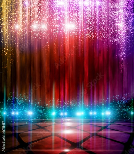 Fotobehang Licht, schaduw Abstract Background with flashing lights.