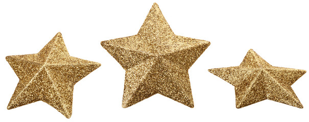 Gold star glitter