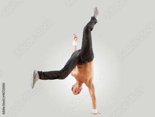 Modern style dancer posing